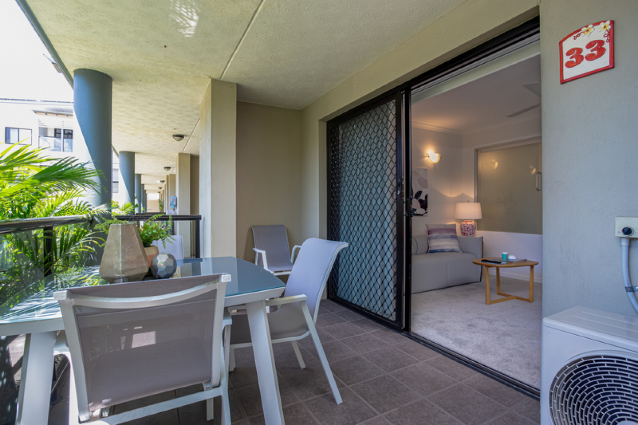 Private home unit with leafy outlook
