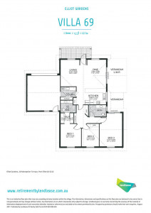 Large three-bedroom home on a corner site.