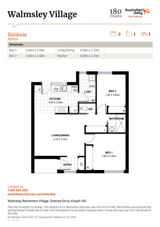 Modern style, conveniently located and private rear garden setting - Unit 21