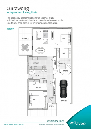 Brand new spacious two bedroom villa with study
