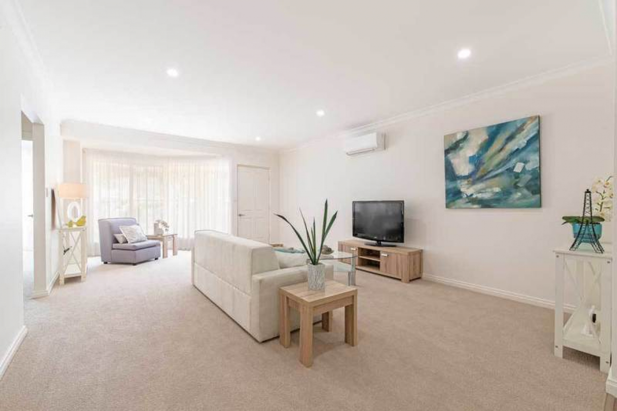 Rarely available 3 bedroom double garage in the ideal location
