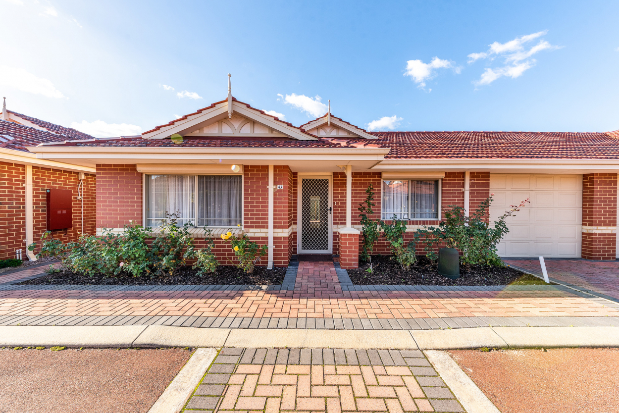 Enjoy Life in a Community Where People Care   Jacaranda Gardens Villa 43 / 7  Clere Pass - Canning Vale 6155 Retirement Property for Sale