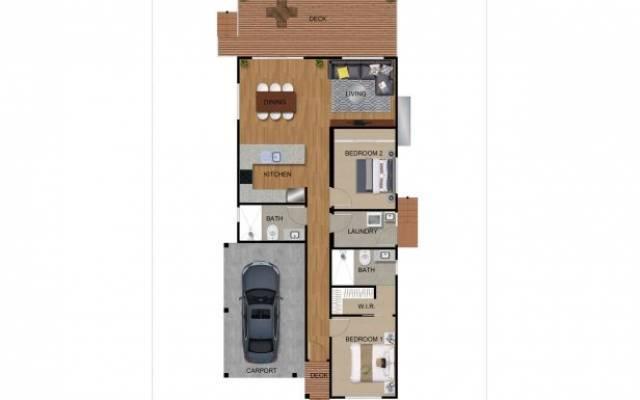 Lakeside Lifestyle Community - 2 Bedroom Home
