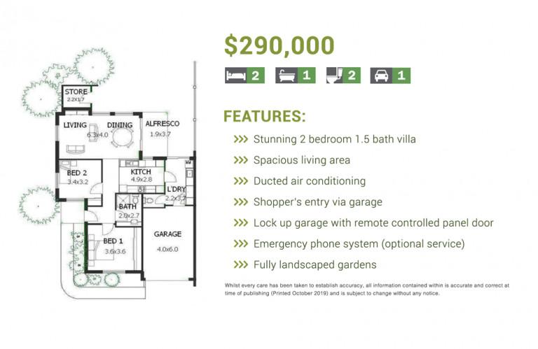 Amaroo Village - Fantastic 2 Bed 1.5 Bath Villa – Now Available!