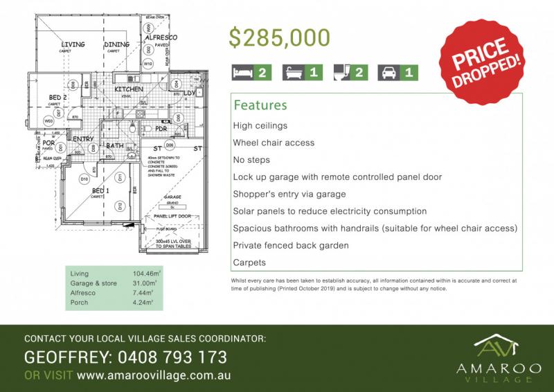 Amaroo Village - Brand New 2 Bedroom Villa