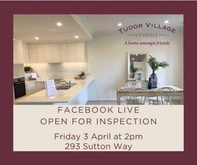 Live online Open For Inspection this Friday at 2pm