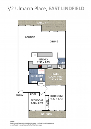 North Facing, Ground Floor 2 Bedroom Unit