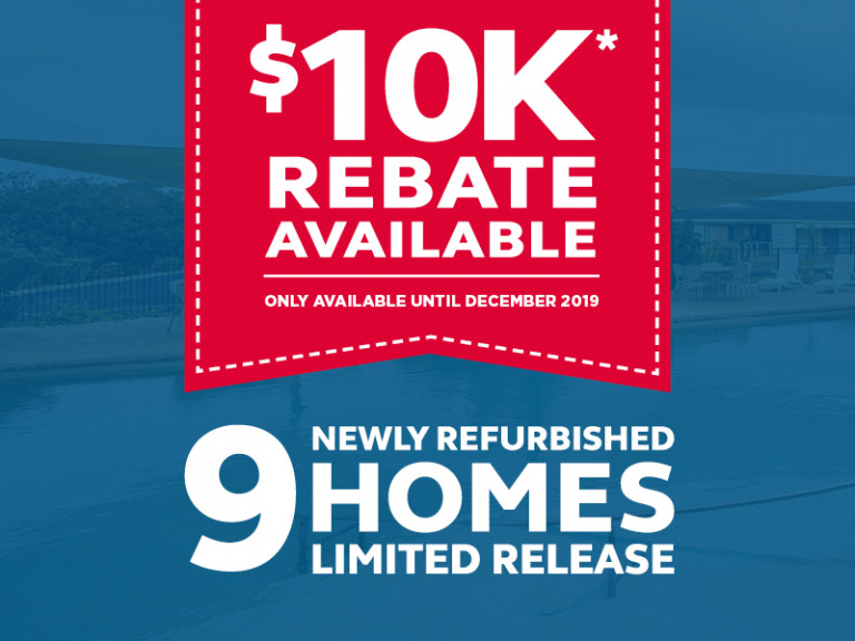 $10,000 Rebate Available on selected homes!