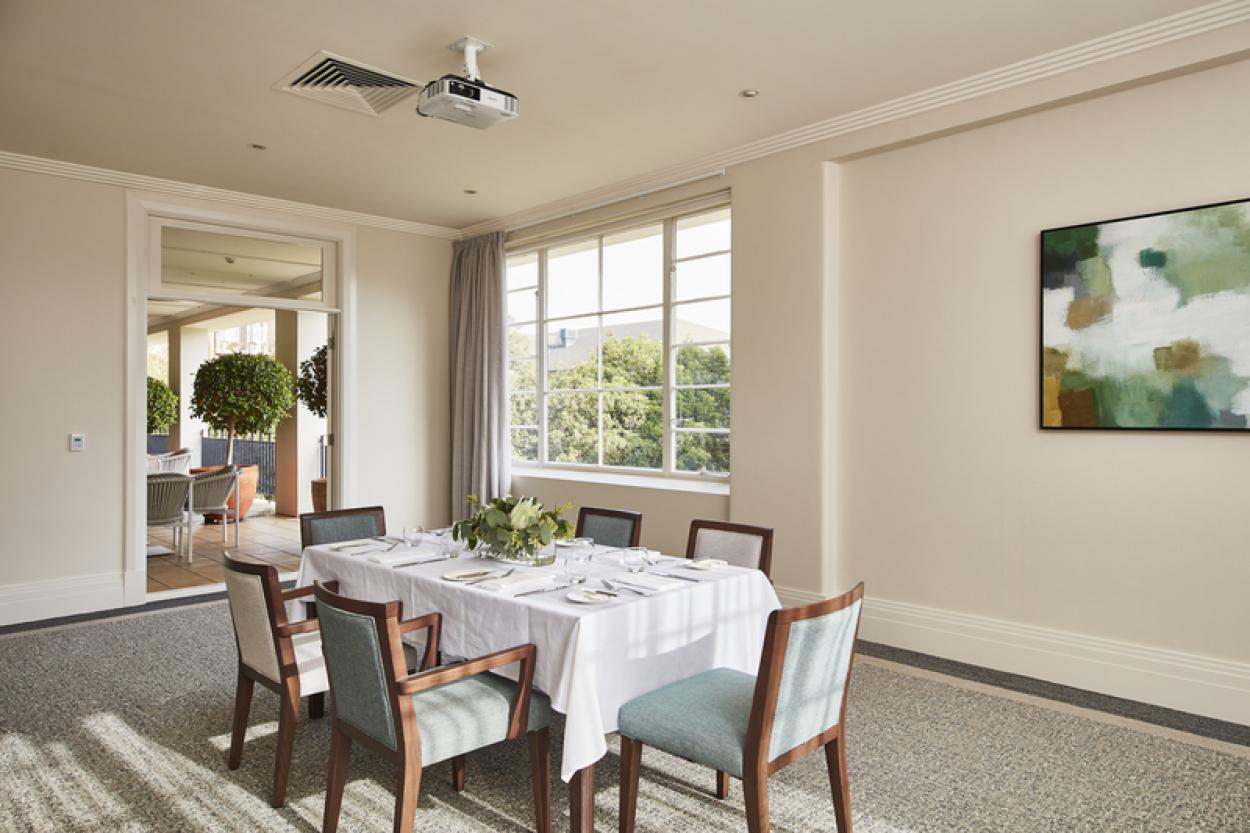 Spacious bayside home with garden views
