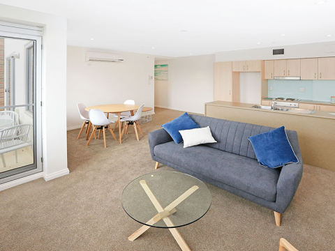 Open plan living with scenic views of the local parklands