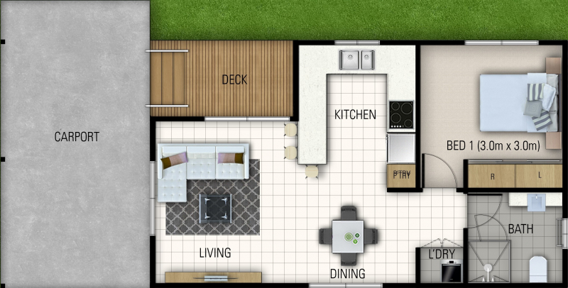 Blue Gum Lifestyle Village - Brand New One Bedroom Home
