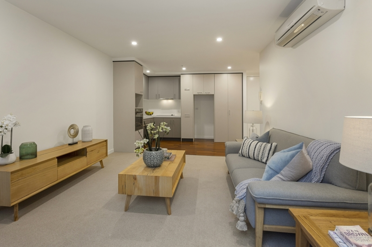Ground floor apartment with direct access to courtyard.