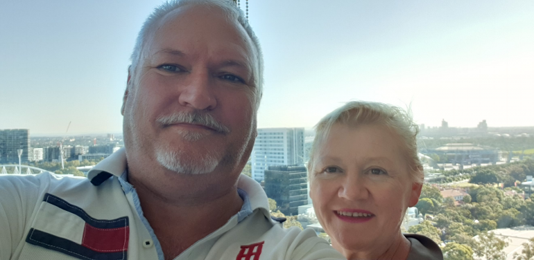 Craig and Robyn Potts have moved into the LIV Indigo project at Sydney Olympic Park