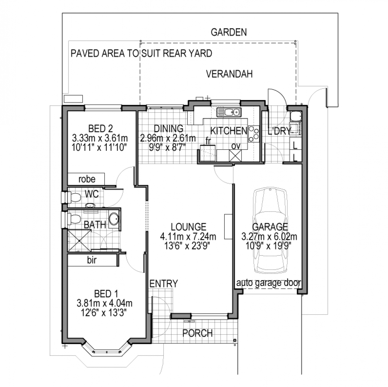 Thyme - 2 Bedroom to the built