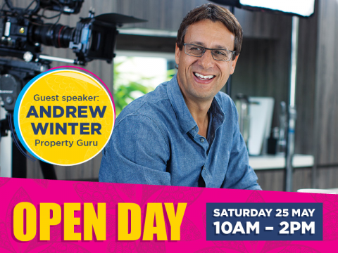 Come hear Andrew Winter's tips for retirement living at our Open Day on Saturday 25 May