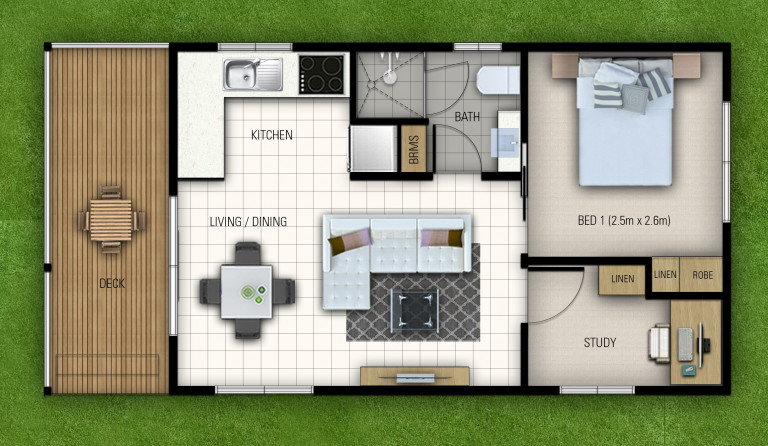 Brand New One Bed Plus Study / Hobby Room Home