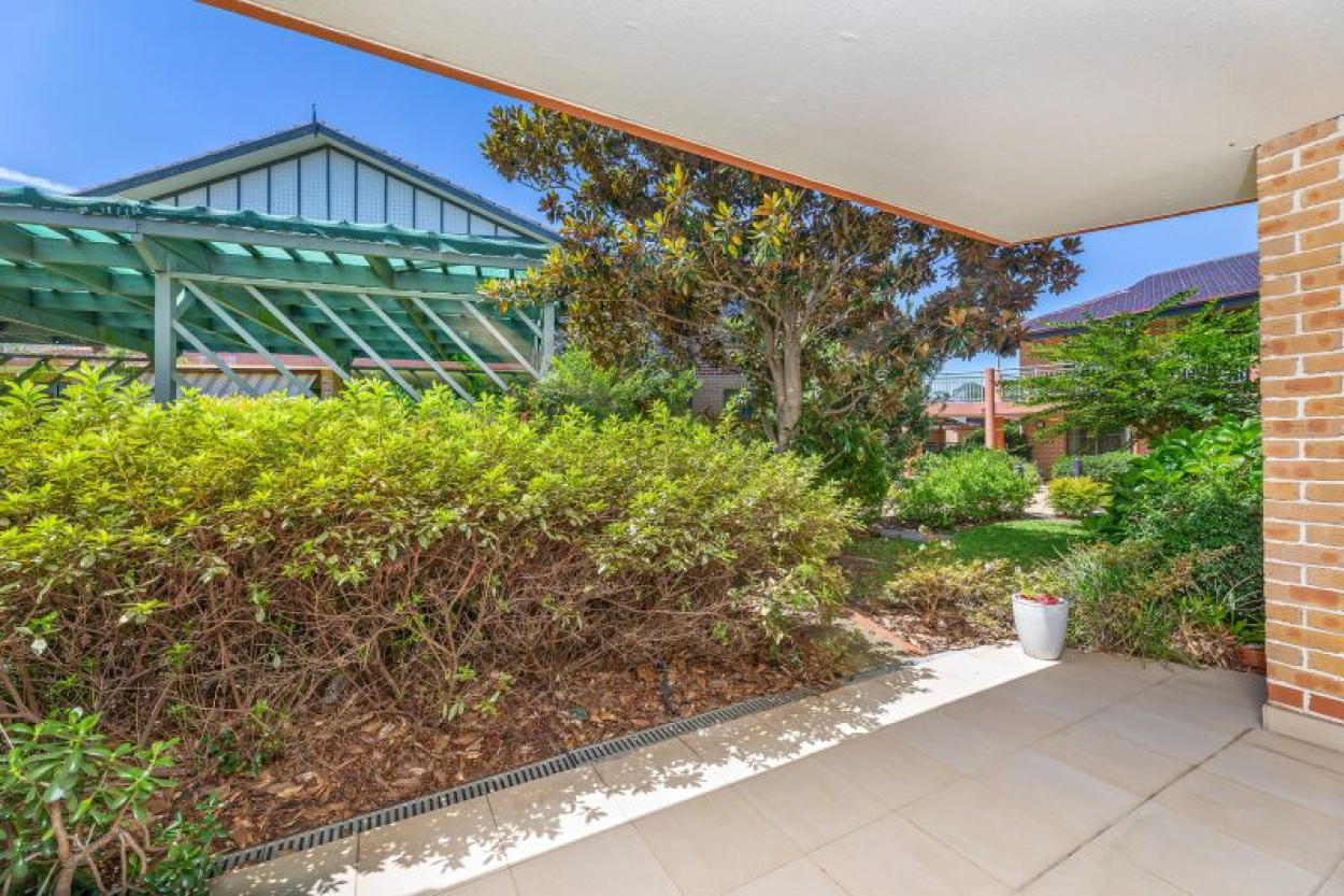 Convenient ground floor location with direct access to beautiful gardens and gazebo area