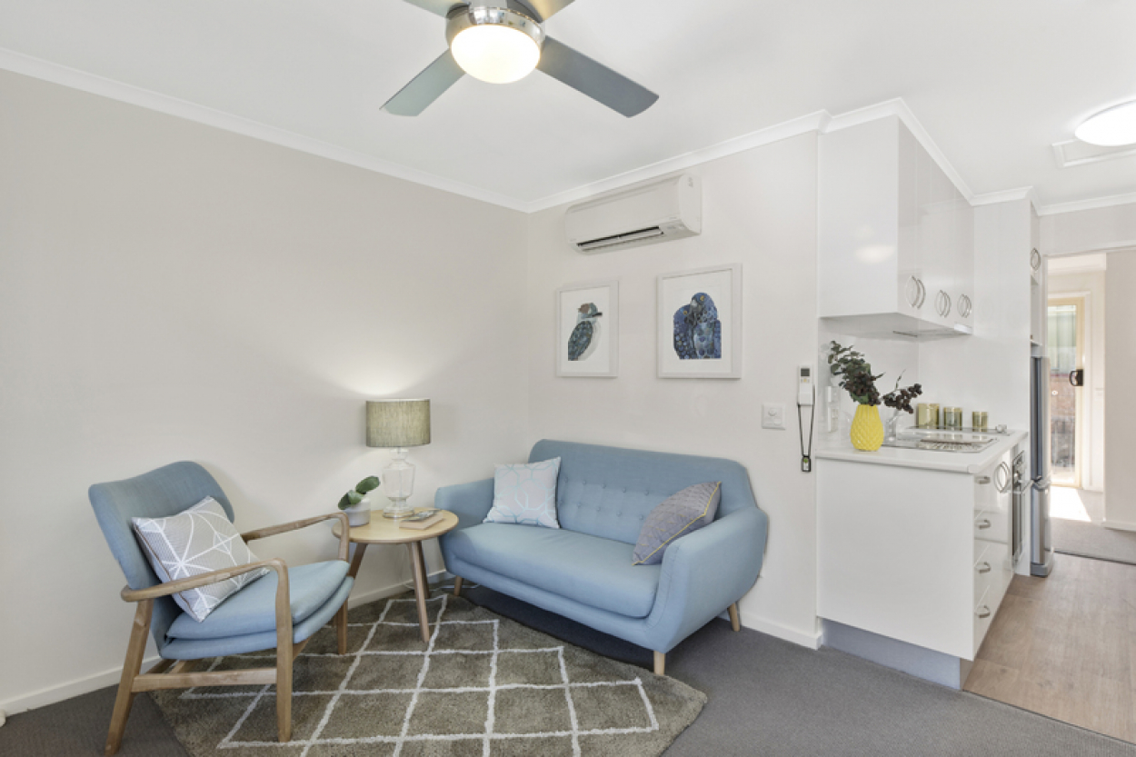 Open plan living in a vibrant community