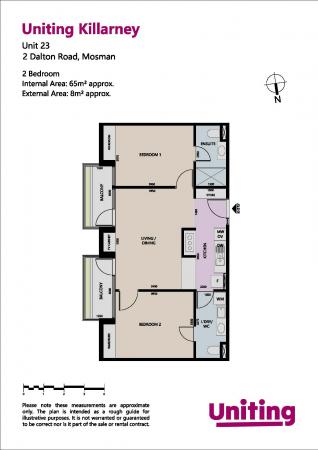 Price drop - Refurbished 2 Bedroom apartment at Uniting Killarney