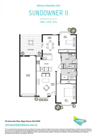 Popular two bedroom design available now!