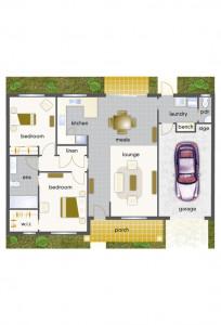 Villa 47 - Mountain View Leongatha - 2 Bedroom Single Garage - Yet to be built