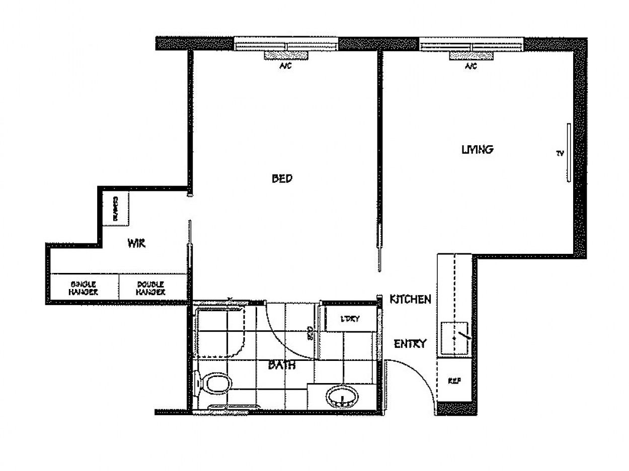Open plan unit designed for your comfort and convenience