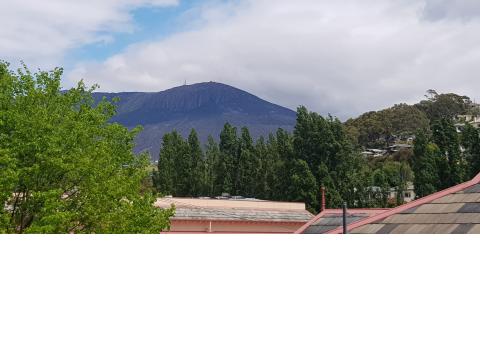 views overlooking Mount Wellington