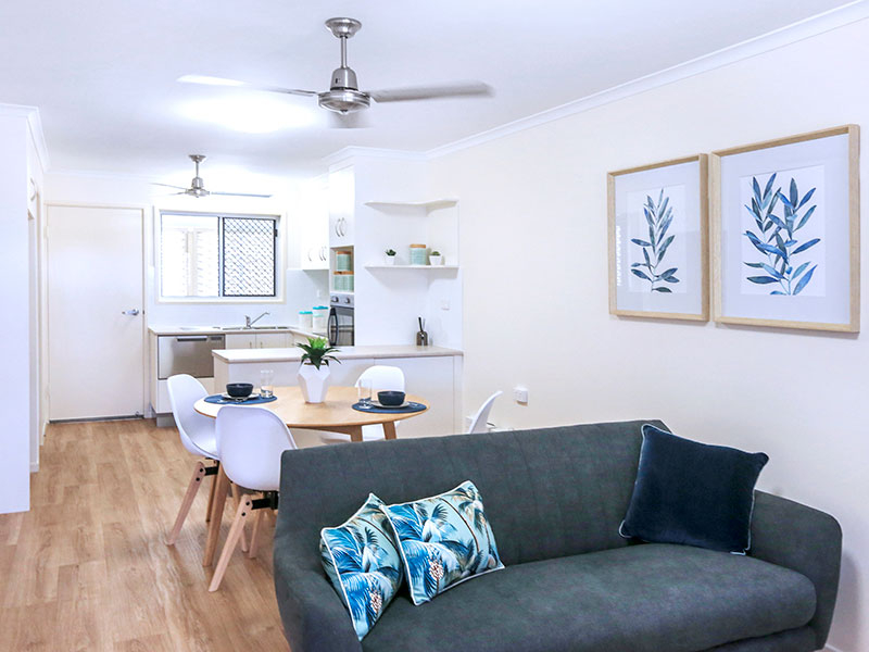 Spacious unit with a lovely outdoor living space