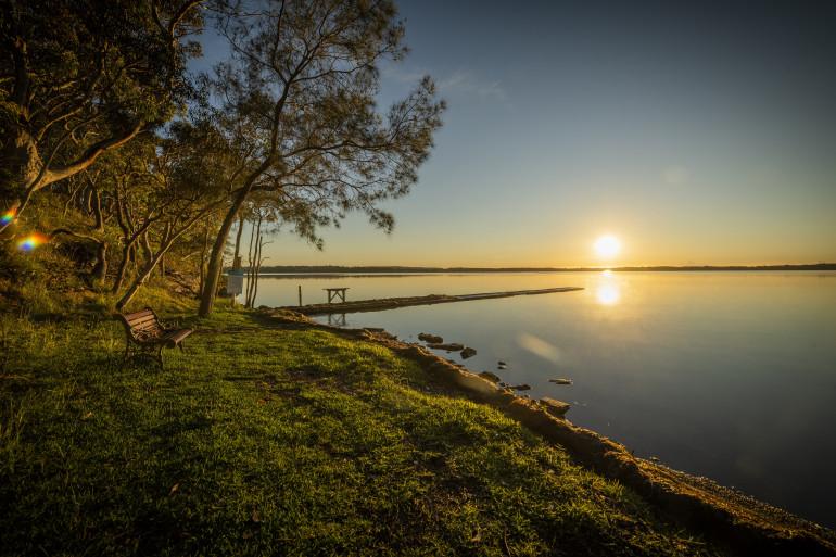 Ingenia's Sunnylake Shores is on the edge of Lake Munmorah on the NSW Central Coast