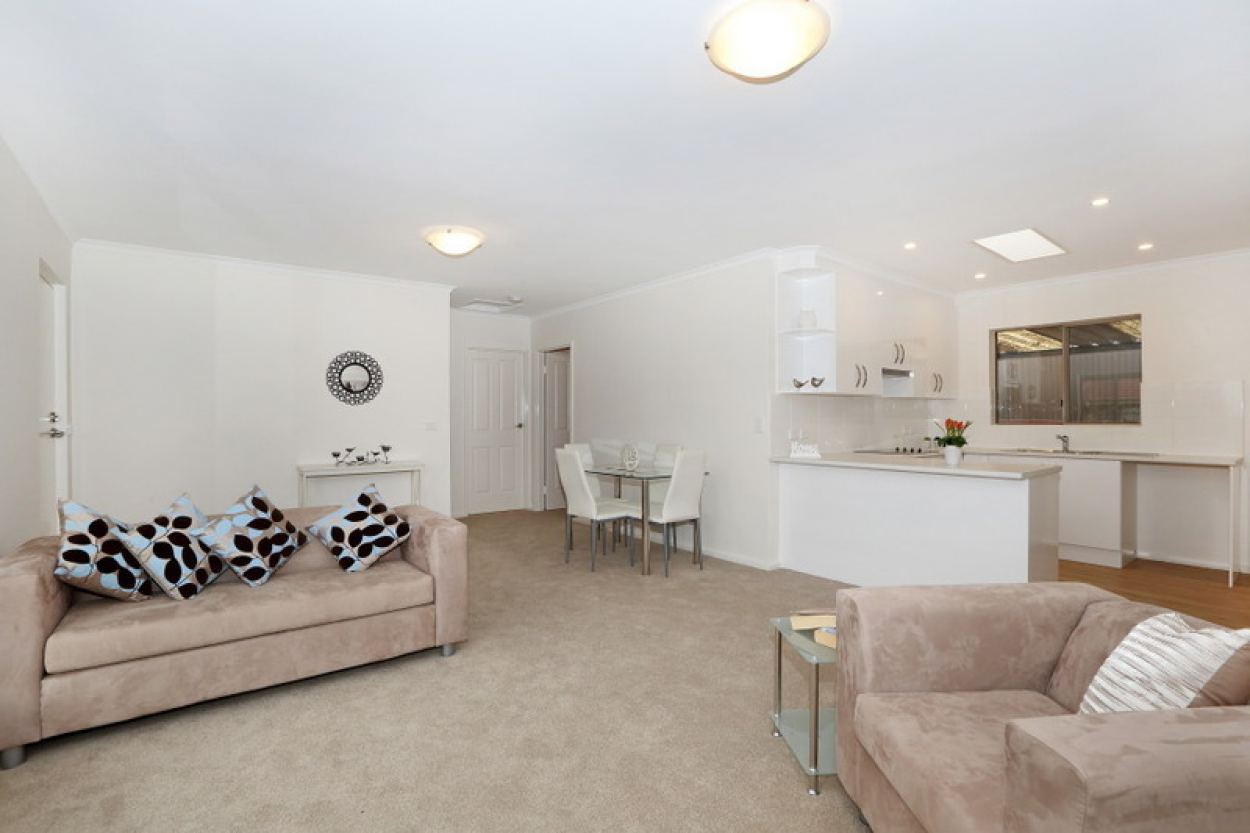 Large two bedroom, quiet street in the heart of the village!