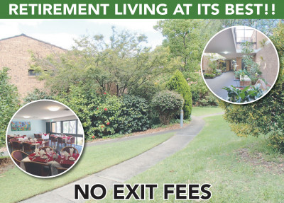 Retirement Living At It's Best With No Exit Fees!