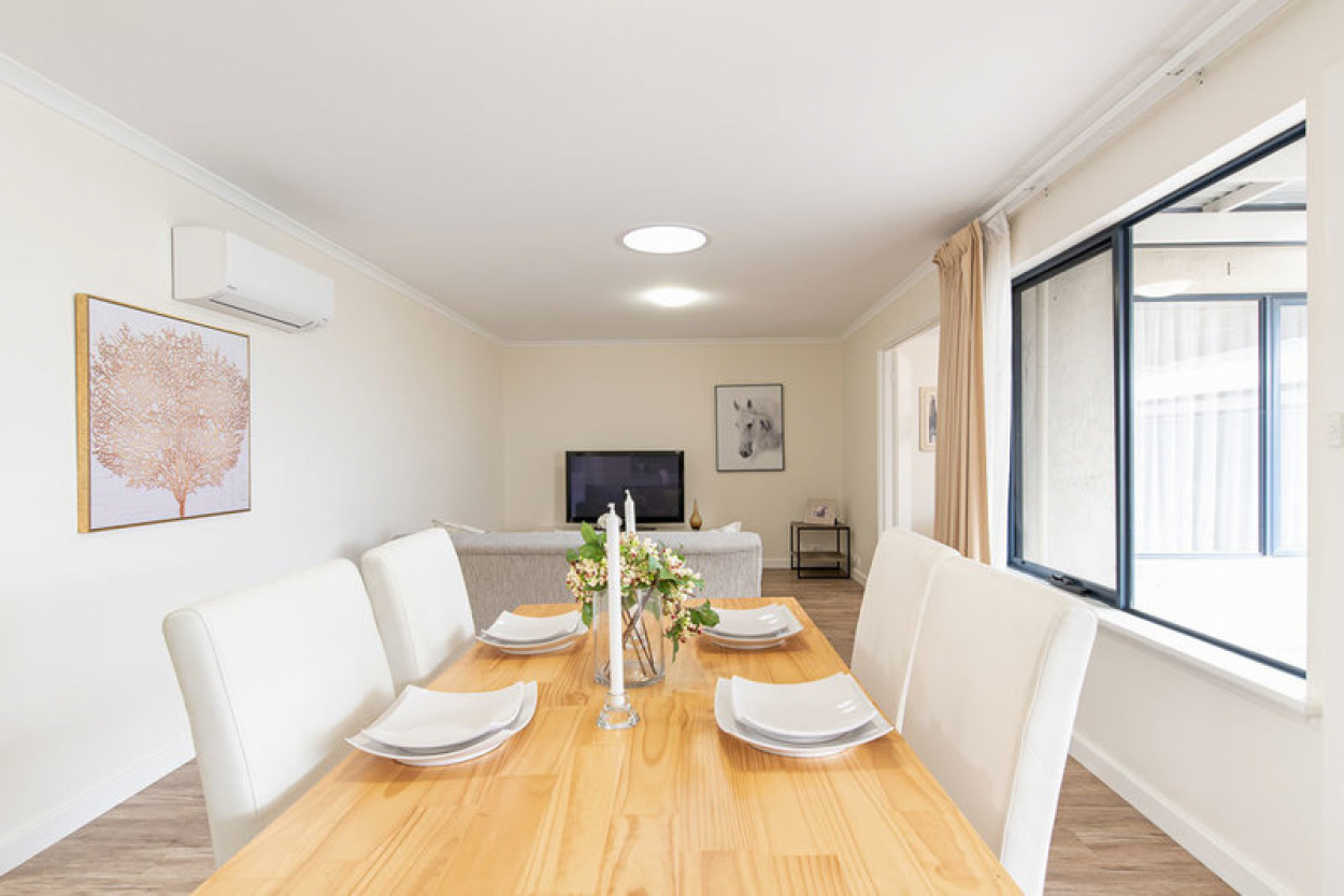 Spacious and modern unit in quiet private setting