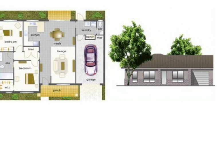 Villa 28 - Mountain View Leongatha - 2 Bedroom Single Garage - Yet to be built
