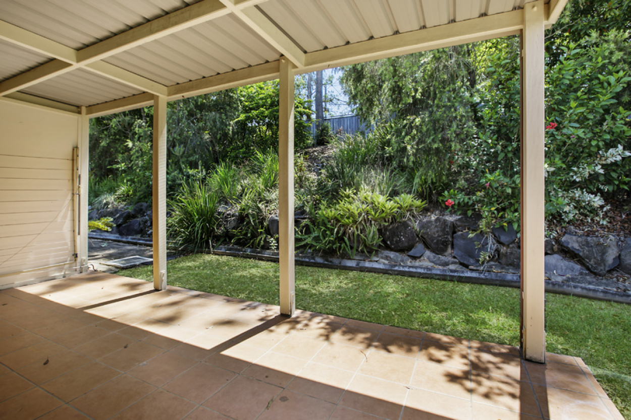 Two bedroom unit with private back patio