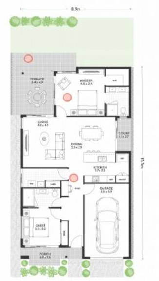 Duke - Vogue - 2 Bedroom Home