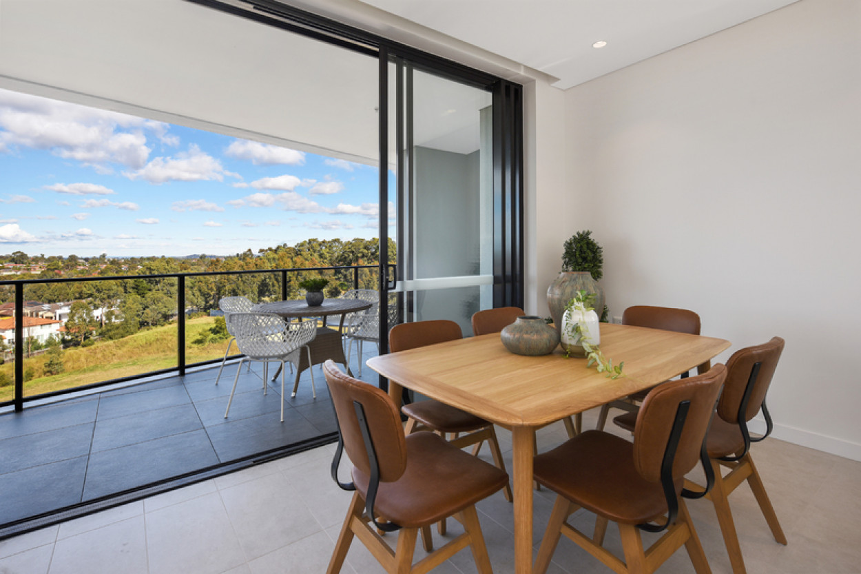Two bedroom living with easterly aspect
