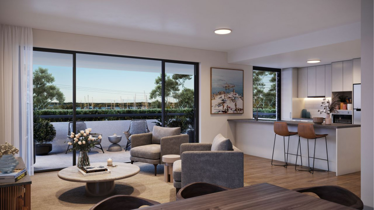 Two bedroom apartment with water views and sought-after north-easterly aspect, positioned on the third floor Apt 312, 56 - 58 Yamba Road - Yamba 2464 Retirement Property for Sale