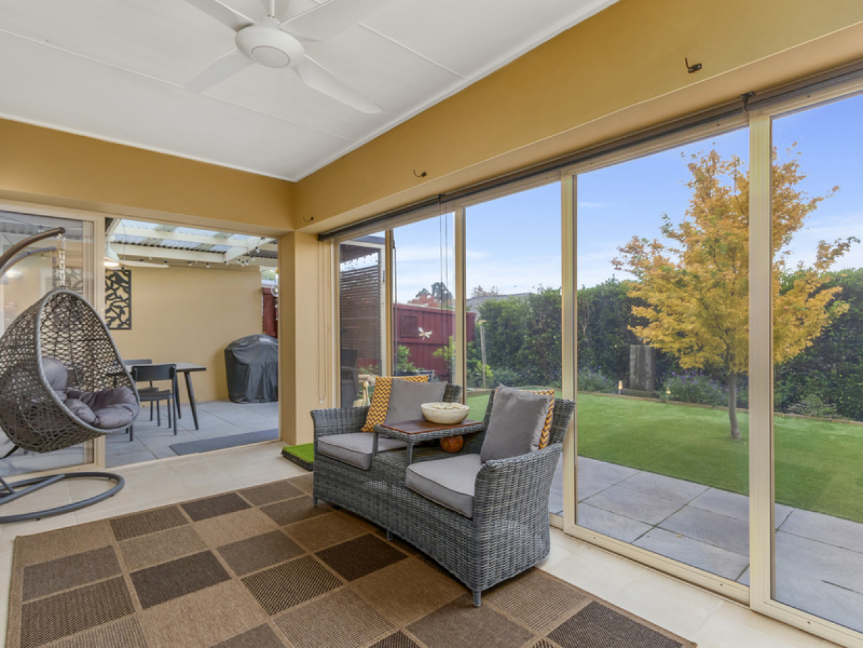 Generous rear yard and covered entertainer's patio