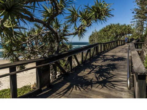 Beautiful homes for easy living, so close to the Beach you can smell the Ocean at Coolum Village.