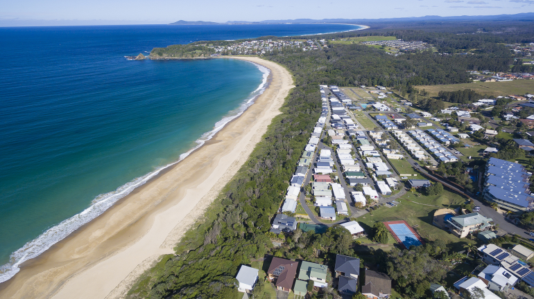 Hometown Australia's Beachfront community on the NSW Mid-North is perfect for downsizers who want to mix work and relaxation