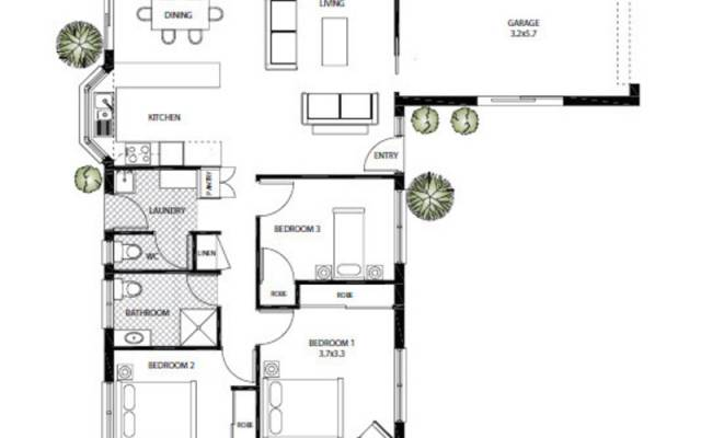 Modernised open plan home with a lovely aspect