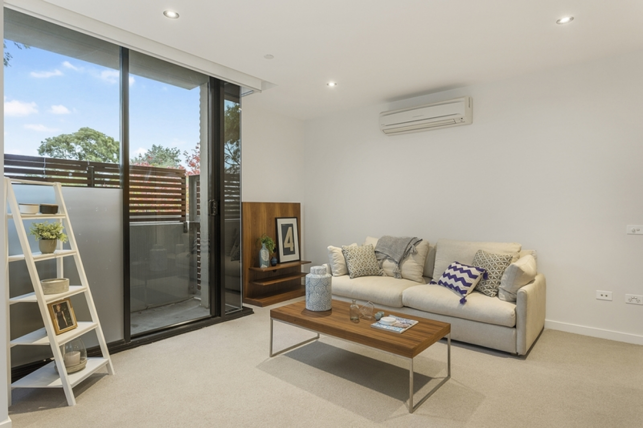 North facing apartment with generous balcony