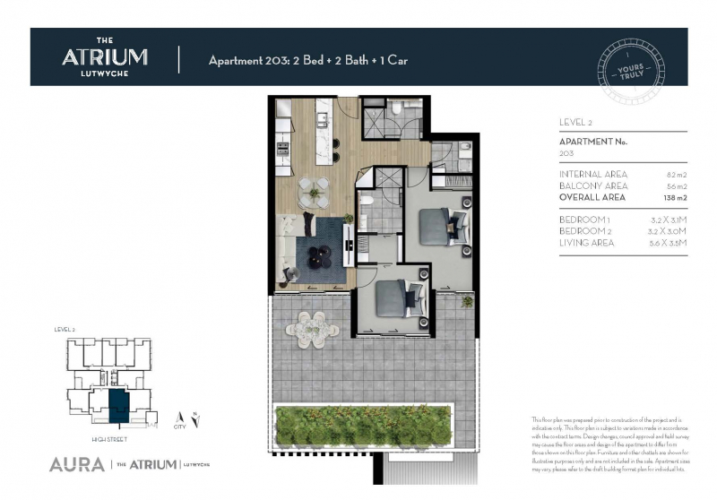 Apartment 203 | The Atrium Lutwyche