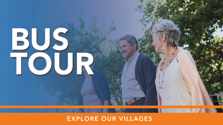 Discover retirement living  options with a fun and informative bus tour to a selection of our immaculate and friendly  villages