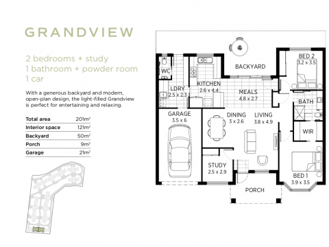 GRANDVIEW: Brand new, premium architect-designed 2 bedroom + study home