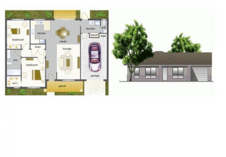 Villa 30 - Mountain View Leongatha - 2 Bedroom Single Garage - Yet to be built