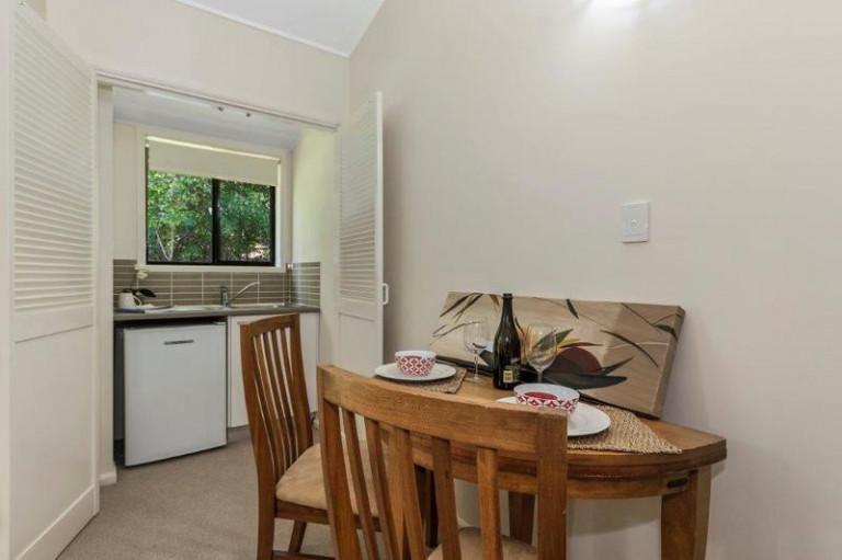 Enjoy the tranquillity of garden and bush views from your own courtyard