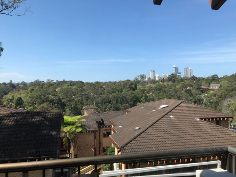 Stunning views overlooking Chatswood skyline