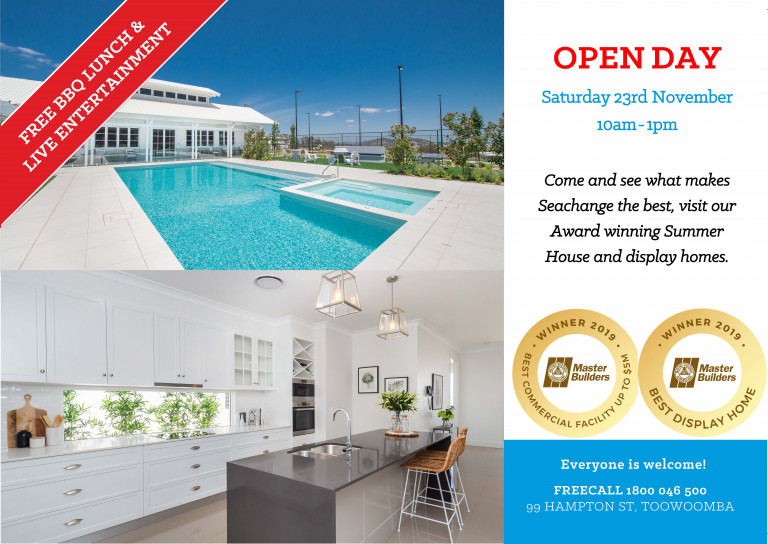 Seachange Toowoomba Open Day 23rd November