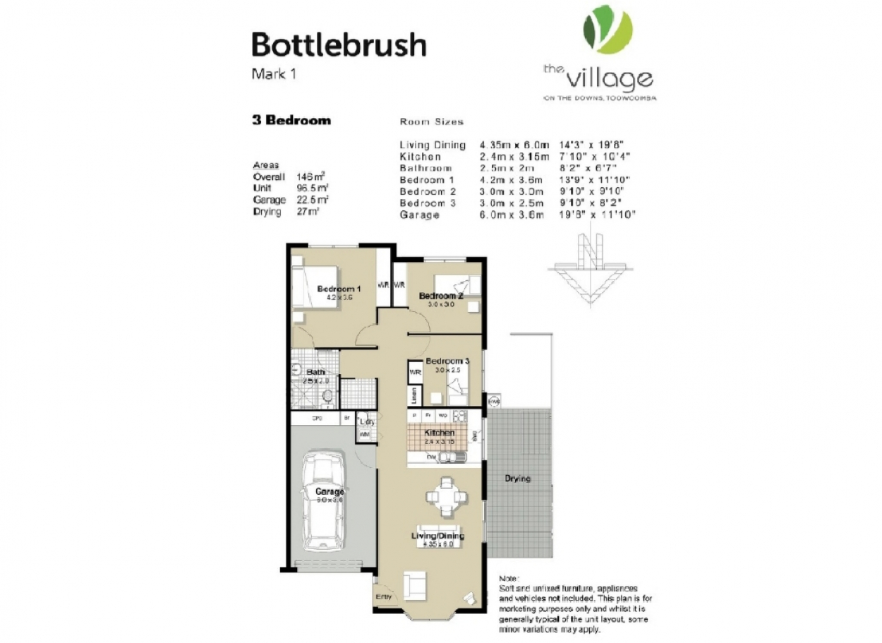 3 Bedroom Villas from $315,000 63-65 Drayton Road - Toowoomba 4350 Retirement Property for Sale